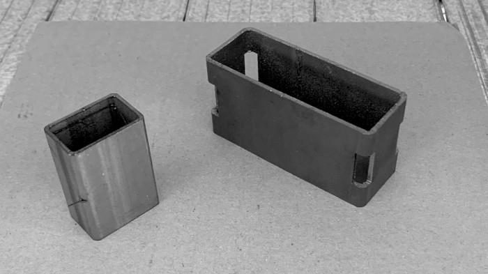 Produzione di componenti industriali metallici con taglio laser tubolare - 3
